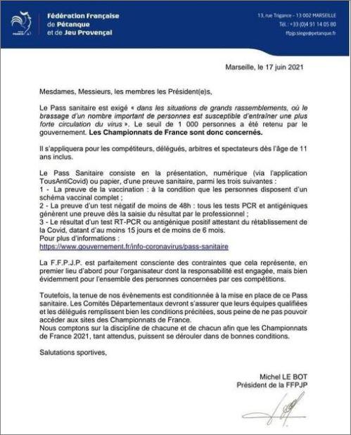 PASS  SANITAIRE  OBLIGATOIRE  2021