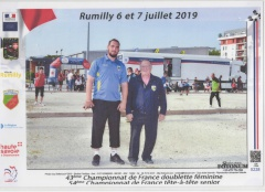 CHAMPIONNAT FRANCE TETE A TETE  2019