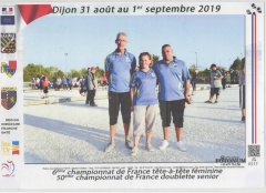 CHAMPIONNAT FRANCE SENIORS  2019