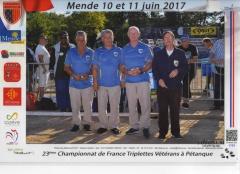 CHAMPIONNAT de FRANCE VETERANS 2017