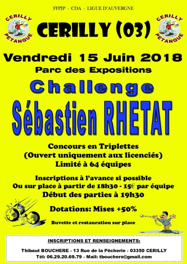 Challenge Sébastien RHETAT