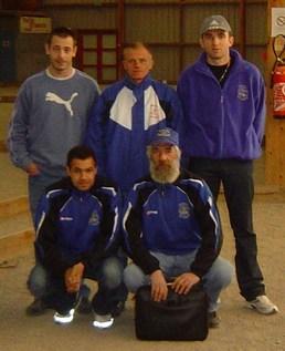 L'équipe B victorieuse des Marais B. Manque sur la photo Max Gozard déjà parti récupérer de sa nuit...