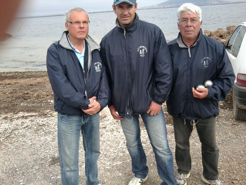 Championnats secteur triplette pétanque 2011  à poussan