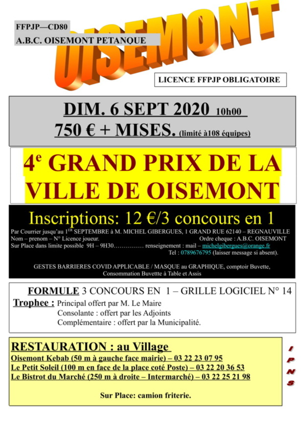 Grand Prix de OISEMONT :