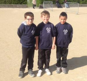 Baptiste, Antonin et Gauthier - vice-champions de l'Ain triplettes