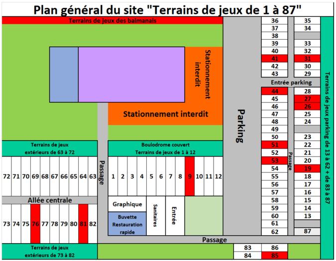 Plan du site qualificatif TTH Balma 08/03/2020