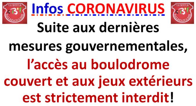 Infos club CORONAVIRUS