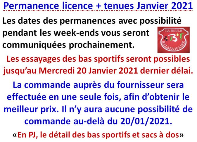 Permanence Janvier 2021
