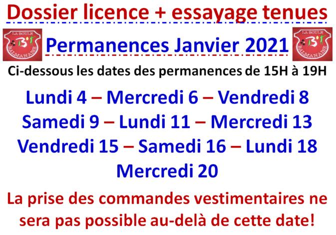 Permanences Janvier 2021
