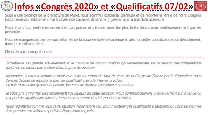 "Infos ""Congrès 2020"" + Qualificatifs 07/02/2021"