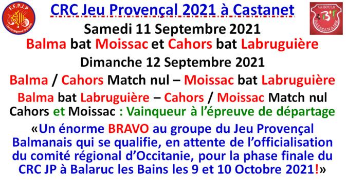 Occitanie CRC Jeu Provençal 2021