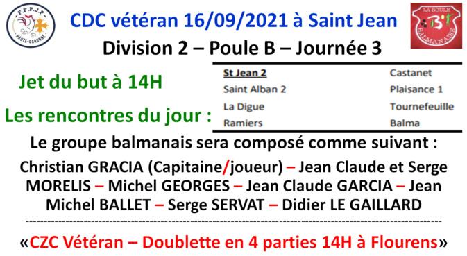 CDC vétéran Saint Jean 16/09/21