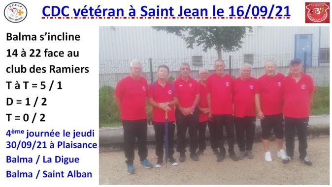 CDC vétéran J3 Saint Jean 16/09/21
