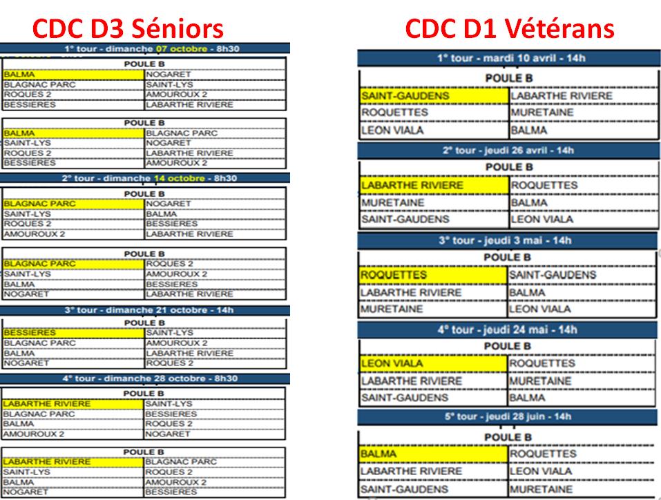 Calendrier 2018 cd31 + CDC D1V et D3S