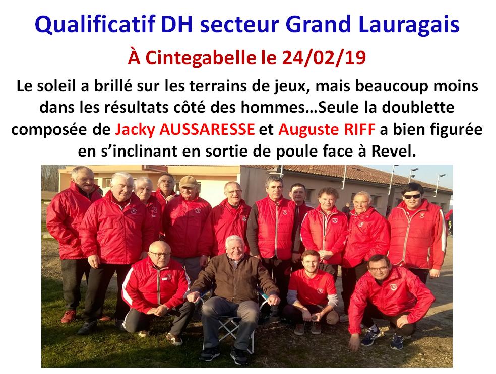 Qualificatif TTF + DH cintegabelle 24/02/19