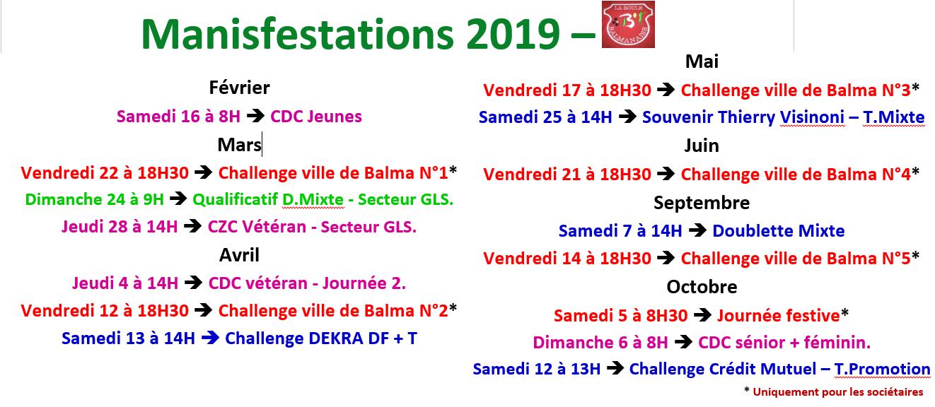 Manifestations 2019