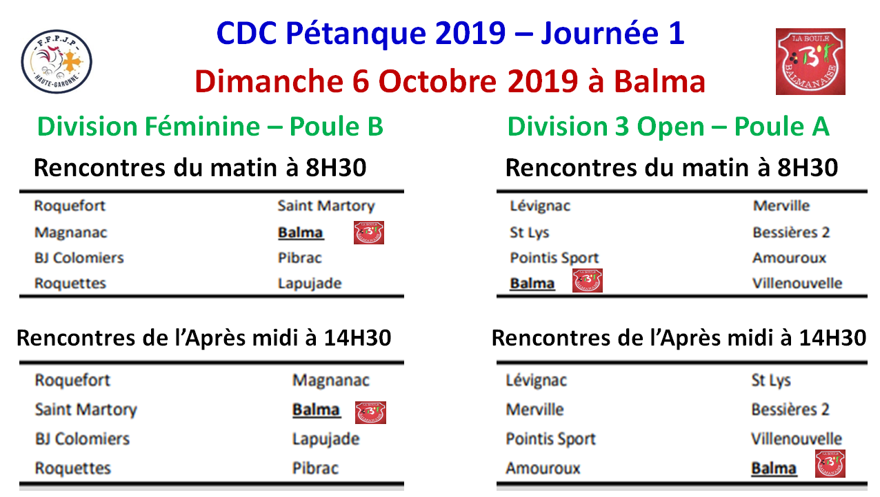 CDC D féminine + D 3 open 06/10/19