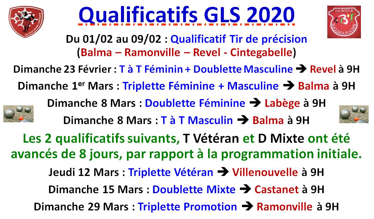 Qualificatifs Grand Lauragais 2020
