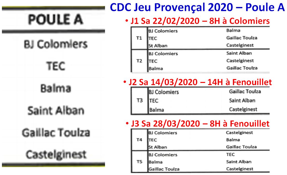CDC JP 2020 Poules A + B