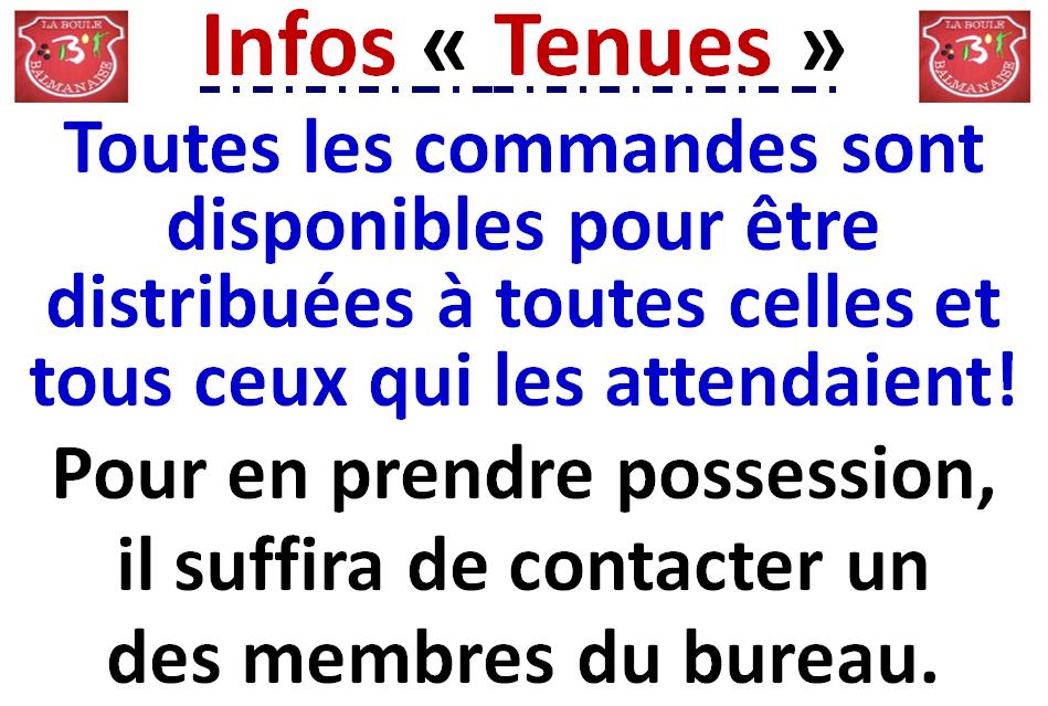 Infos tenues 06/03/2021