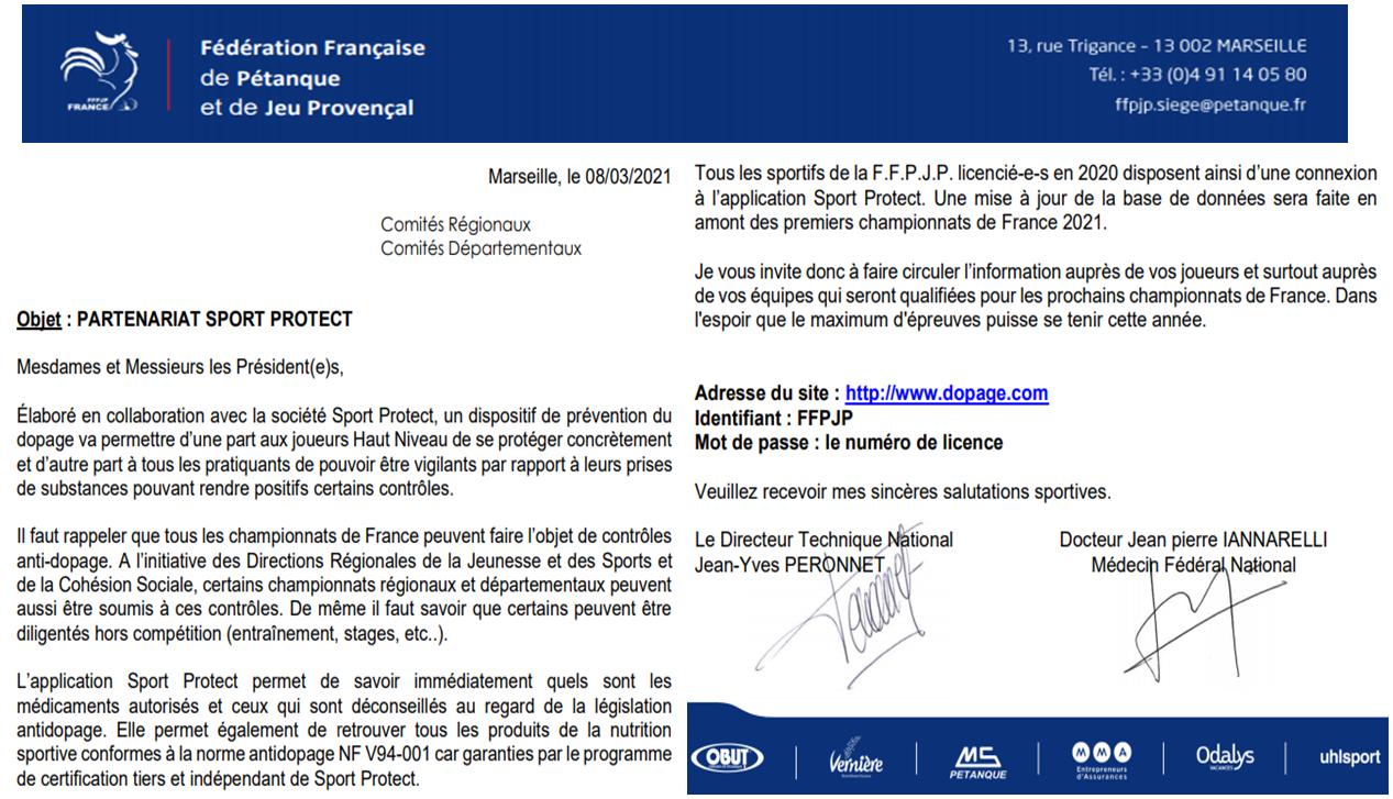 Information FFPJP 10/03/2021
