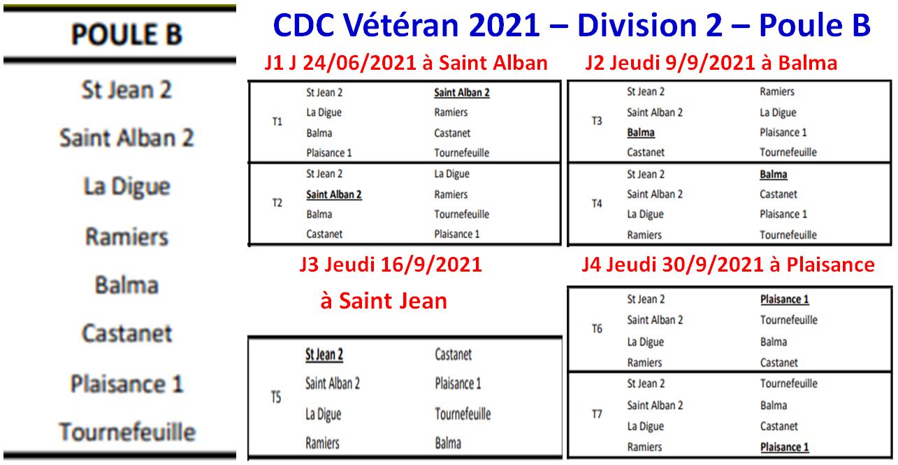 CDC Vétéran Division 2 Poule B