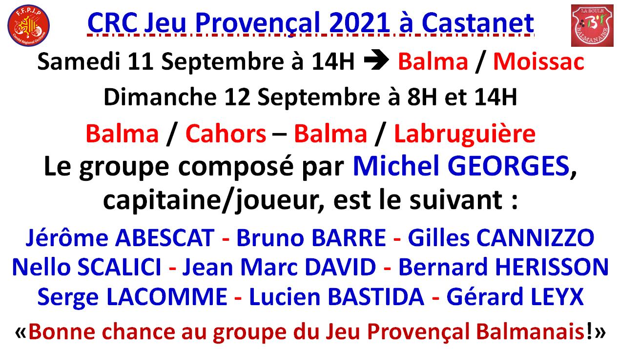 CRC Jeu Provençal 2021