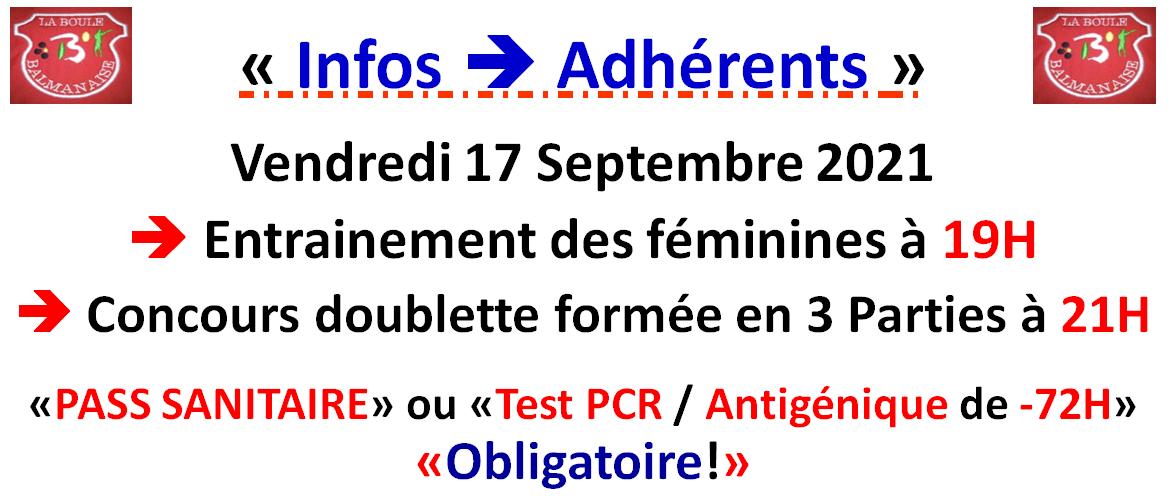 Infos ==> Adhérents LBB