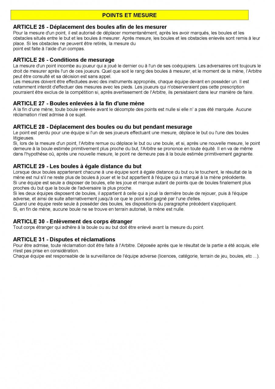 Article n 158 for Regle de la petanque provencale