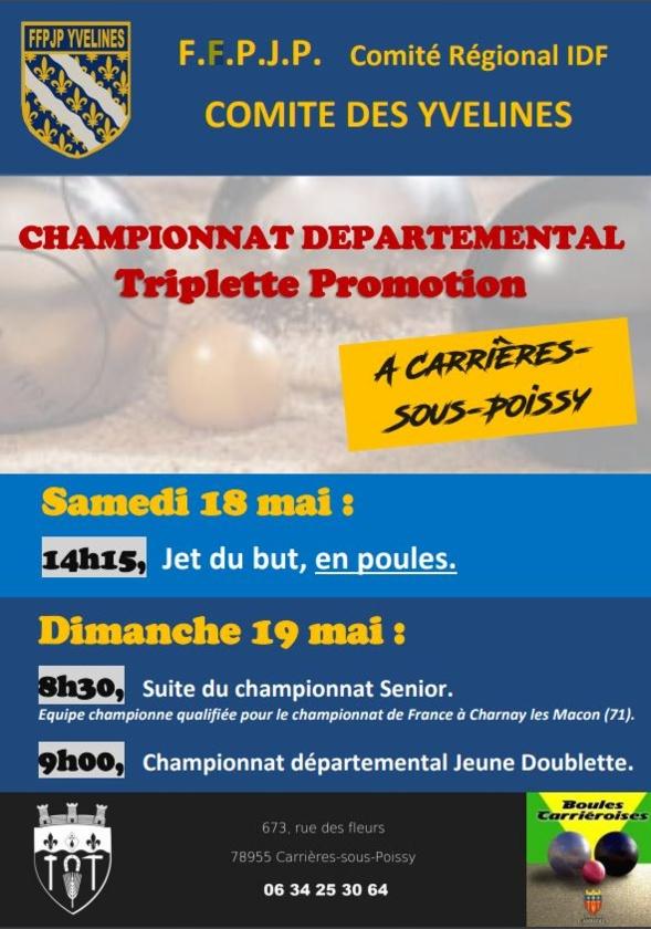 Championnat Départemental X3 Promotion- Championnat Départemental Doublette Jeune