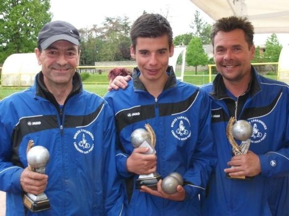 Vice-Champions Départementaux SENIOR: Luis, Victor et Eric