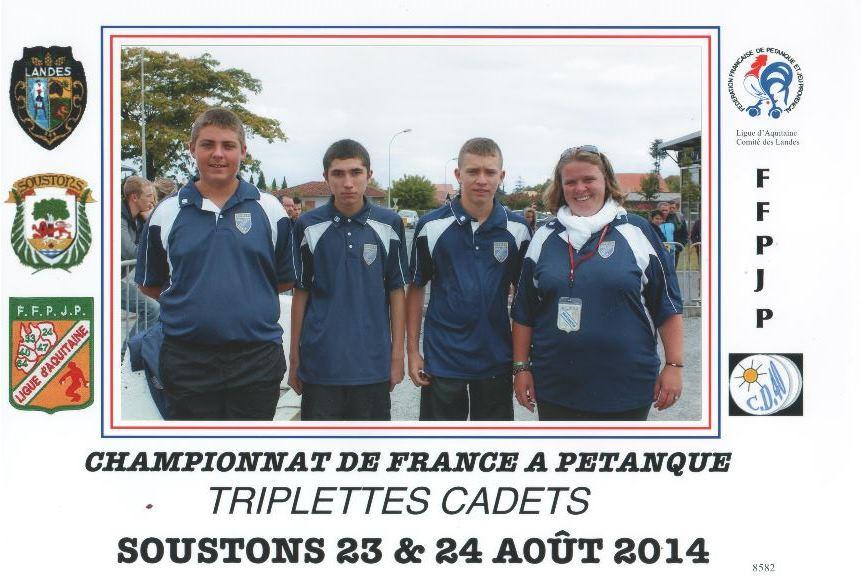 Championnat de France Jeunes à Soustons (Landes 40)