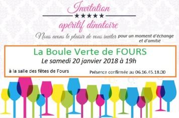 Apéritif dînatoire de La Boule Verte du 20/01