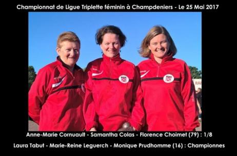 Résultats championnat de ligue triplette féminin