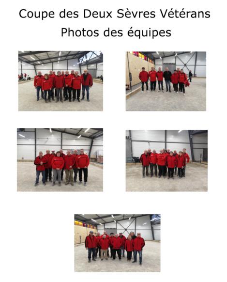 Coupe des Deux Sèvres Vétéran 2020 - Photos équipes