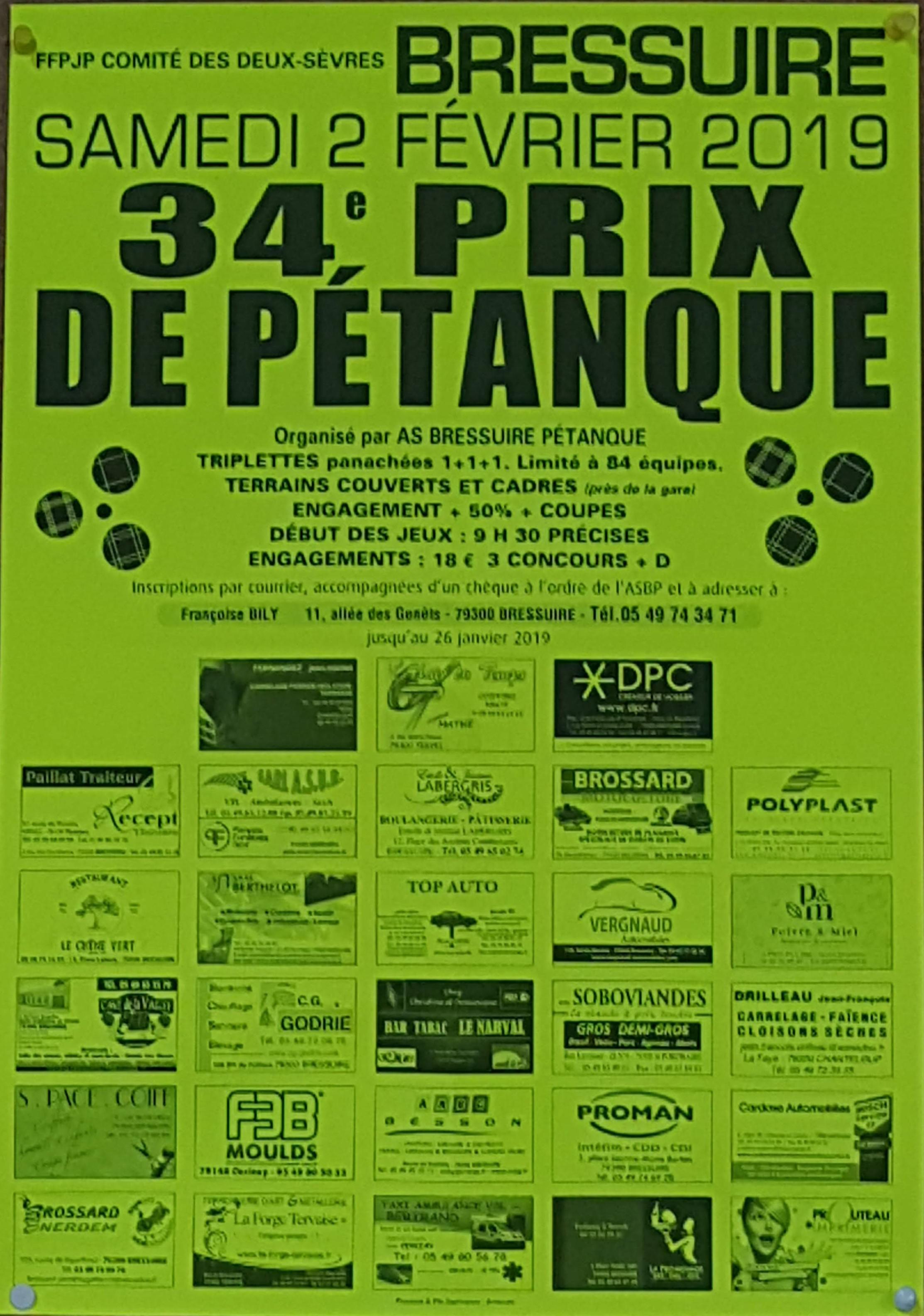 34ème Grand Prix de Pétanque