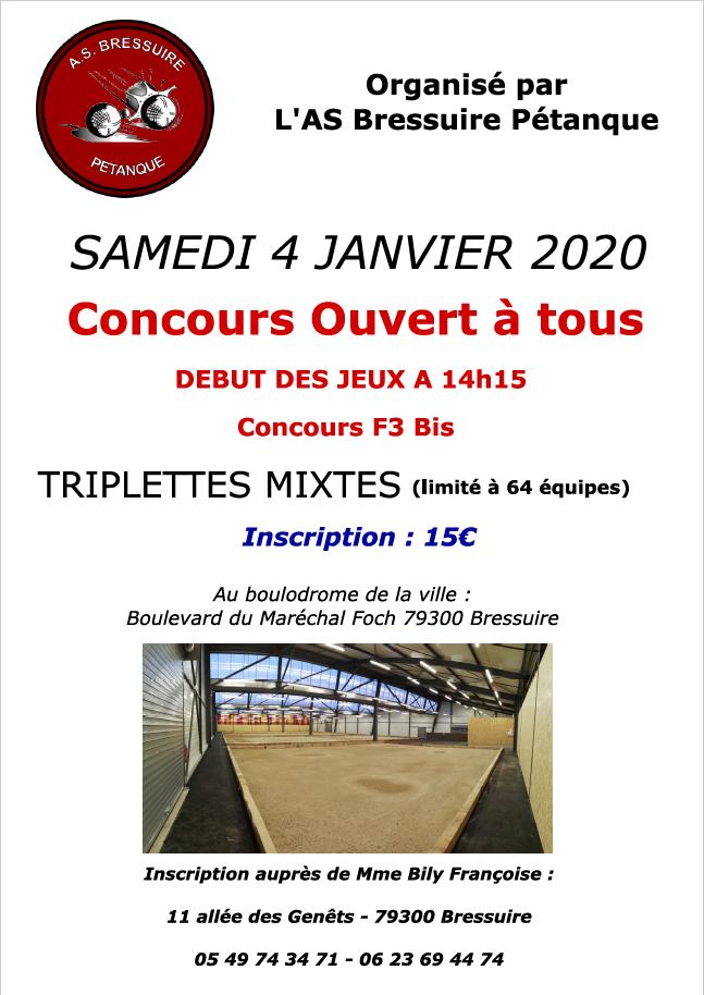 Concours du samedi 4 janvier 2020