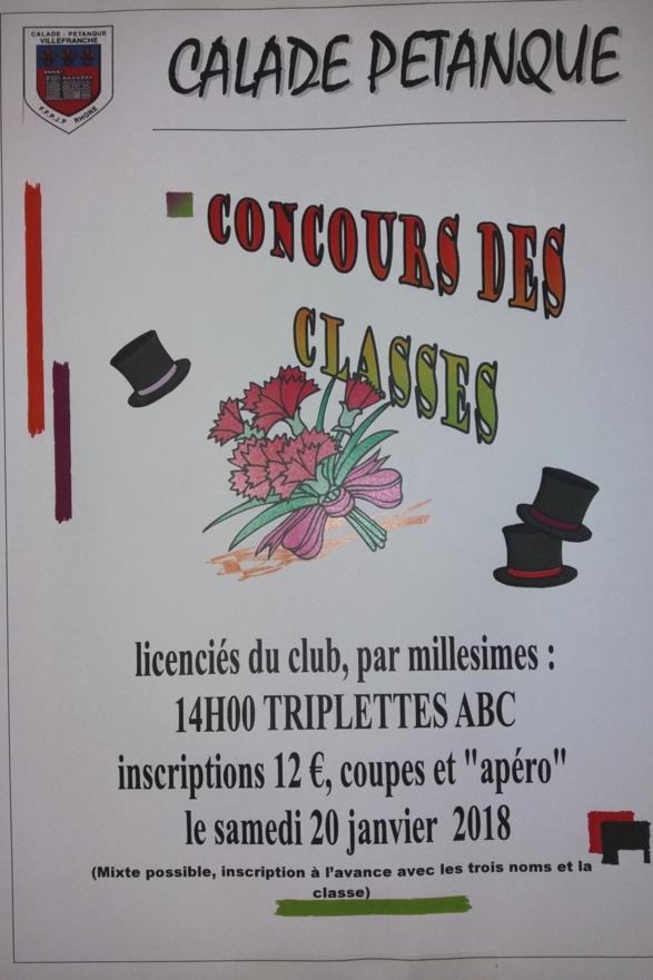 CONCOURS DES CLASSES LE 20 JANVIER