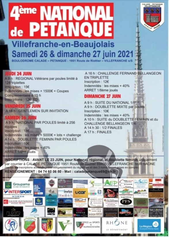 4 EME NATIONAL DE VILLEFRANCHE EN BEAUJOLAIS