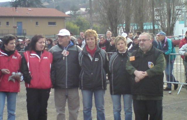 Championnats du Rhône doublettes masculin et féminin
