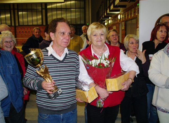 Le premier masculin NABET Hubert et la premiere féminine SERRE Nöelle
