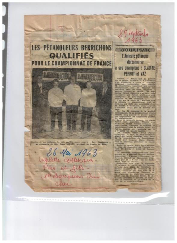 Voici, les champions de 1963