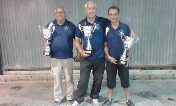 Christophe Bailly,Lionel Jacquet,Christophe Chanas (ES Moulon) Champions Régional Triplettes Seniors