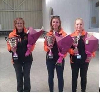 La triplette de ligue Féminine du Centre
