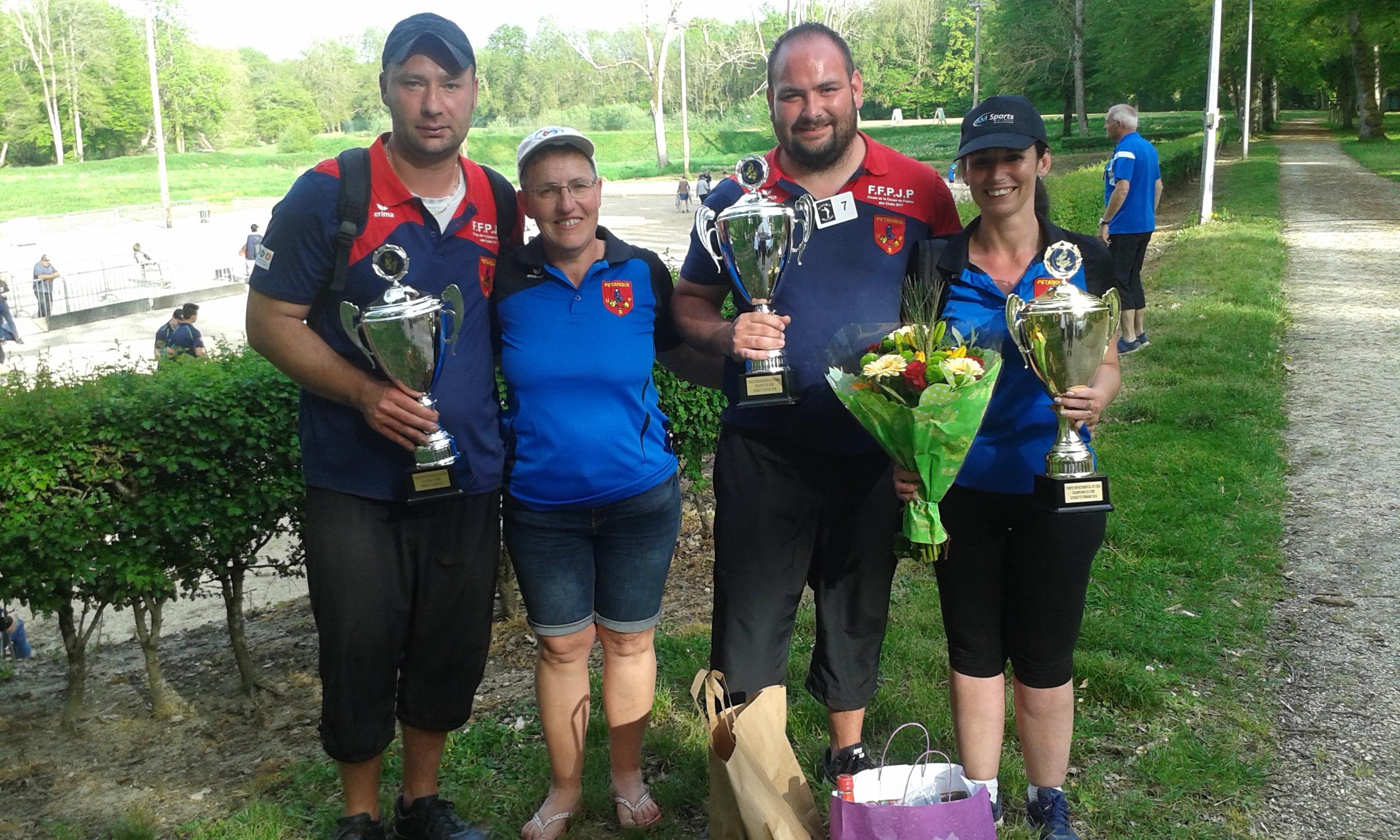 Champions doublettes Masculins et féminins