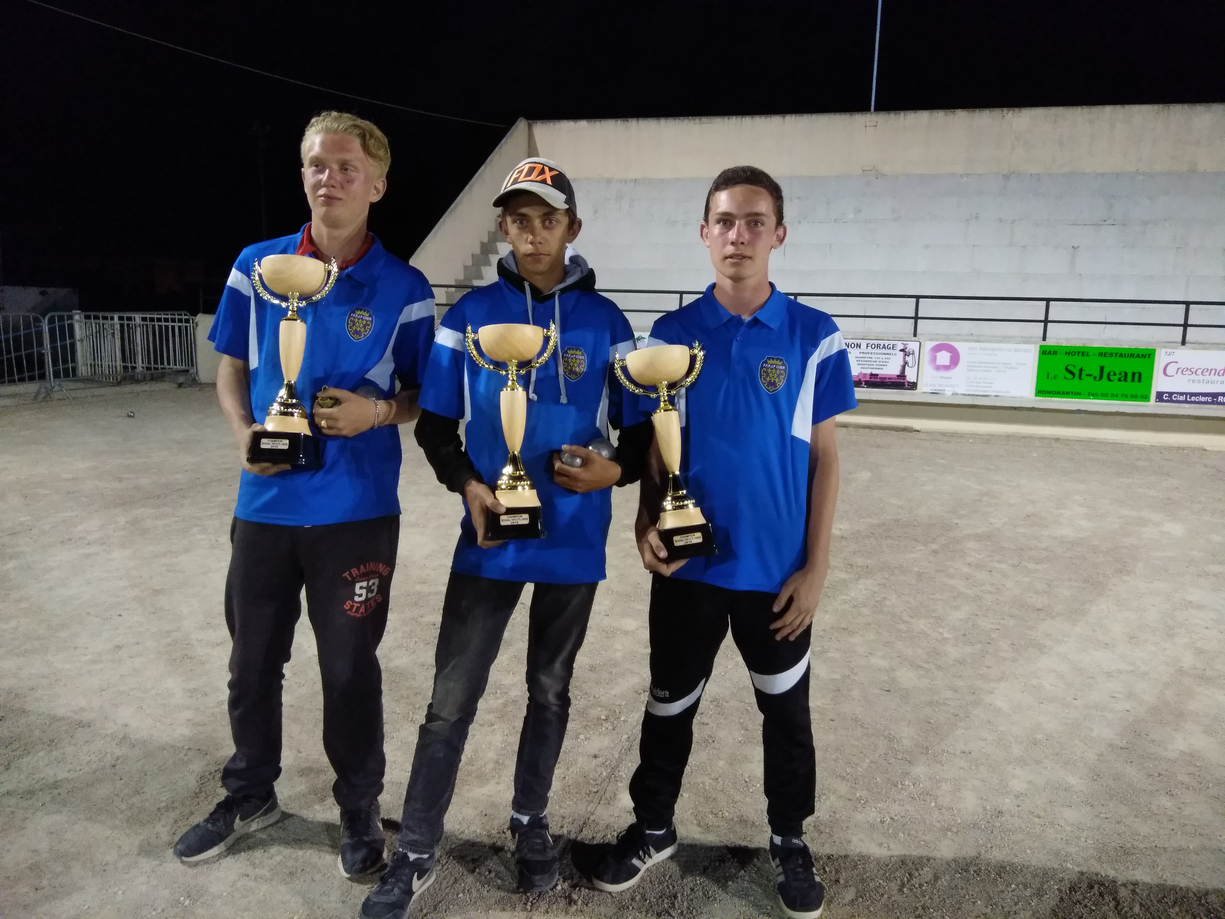 Antoine Auchére / Guillaume Vatan / Donovan Mourtier Champions Régional Triplettes Juniors