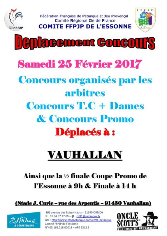 Concours du 25 Février 2017