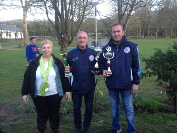 CHOUPAY Didier et PILEWSKI Sylvain du club d'ITTEVILLE