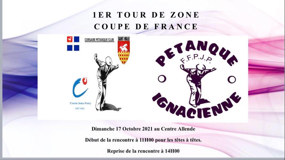 1ER TOUR DE ZONE COUPE DE FRANCE