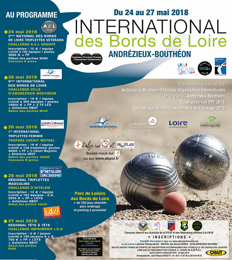 INTERNATIONAL DU 24 AU 27 MAI 2017 ANDREZIEUX  BOUTHEON